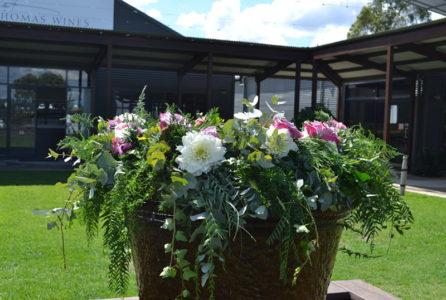 Water fountain flowers