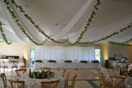 Ceiling foliage garlands