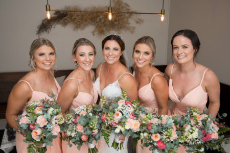 Peach and Pink Bouquets