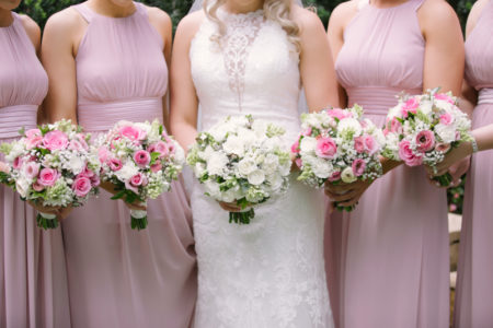 Pink and White delicate posies