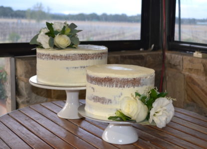 Simple white cake toppers